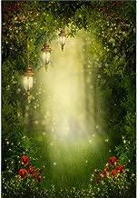 Yeele 3x5ft Enchanted Forest Jungle Backdrop Fairy Tale Forest Lantern Lawn Photography Background Kids Portrait Photo Studio Props Wallpaper