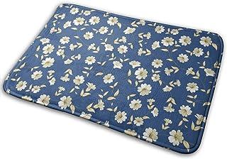 BLSYP Patrón Floral sin Costuras Alfombrilla para Puerta Alfombrillas para Puerta Alfombra Antideslizante Alfombra para Si...