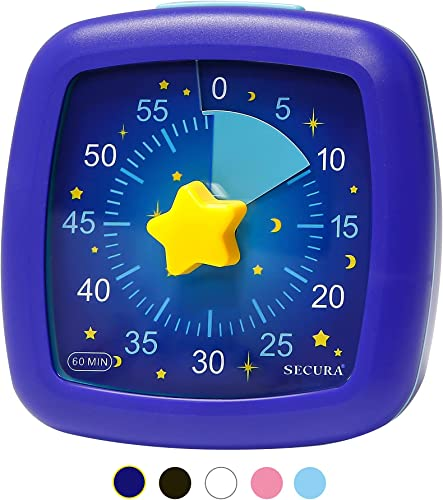2021 Secura 60-Minute online Visual Timer, Silent Study Timer for Kids and Adults, online Time Management Countdown Timer for Teaching (Starry Sky) outlet sale