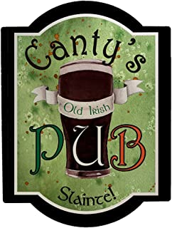 Personalized Old Irish Pub Wall Sign, 11.5