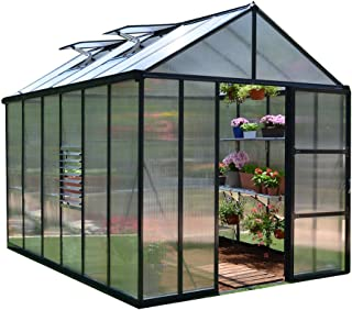 Palram HG5612 Glory Greenhouse, 8' x 12', Gray