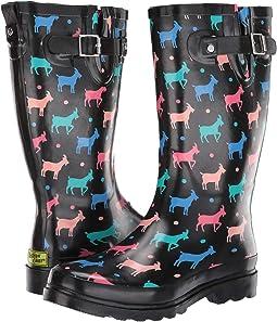 Dotty Goats Rain Boot