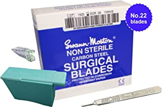 Swann Morton No.22 Scalpel Blades- Box of 100 - New Dated 2021