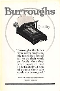 Print Ad 1925 Burroughs Adding Machine. Calculating And Billing Machines