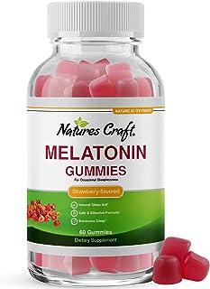 Melatonin 5mg Natural Sleep Aid - Natural Melatonin Gummies 5mg Deep Sleep Supplement for Insomnia Relief - Melatonin Slee...