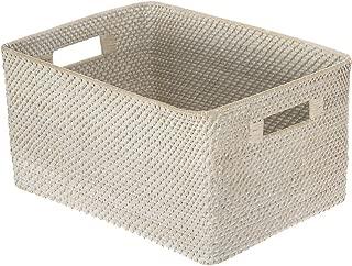 Kouboo 1060084 Laguna Rectangular Rattan Storage Basket, 17.25