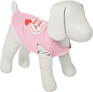Mirage Pet Products 12-Inch Puppy Love Screen Print Shirt for Pets, Medium, Light Pink