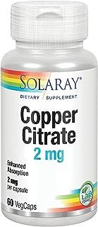 Solaray Copper Citrate 2mg   Cobre   60 VegCaps