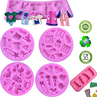 Cute Baby Silicone Fondant Cake Mold Kitchen Baking Mold Cake Decorating Moulds Modeling Tools,Gummy Sugar Chocolate Candy Cupcake Mold(6 PACK)