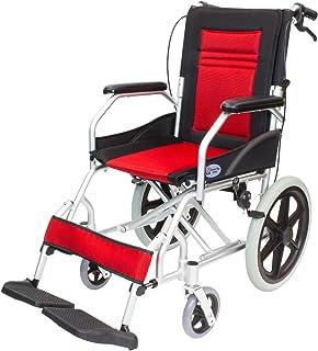 ケアテックジャパン 介助式車椅子 CA-22SU ハピネスライト -介助式- (レッド)