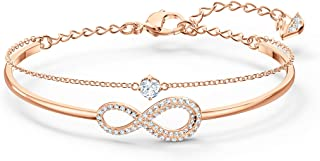 Swarovski Infinity Bangle Bracelet with White Crystal...