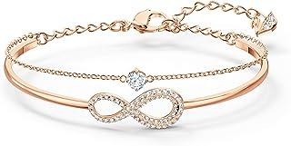 Swarovski Bracelet-Jonc Swarovski Infinity, Métal Doré Rose