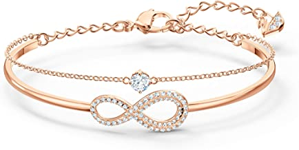 SWAROVSKI Women's Infinity Knot Rose-Gold Tone Crystal Jewelry Collection