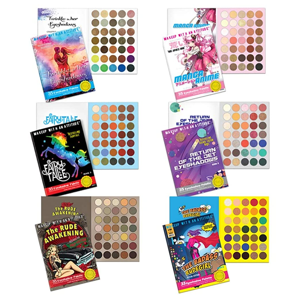 曲線消す遠近法(6 Pack) RUDE? Book Series 6 Eyeshadow Palettes Bundle (並行輸入品)