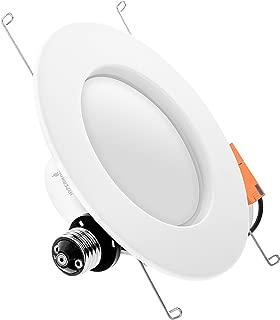 Hyperikon 6 Inch LED Recessed Lighting, 100 Watt Replacement (19W) 5 Inch, Retrofit Dimmable Downlight, 4000K Daylight, UL, Energy Star