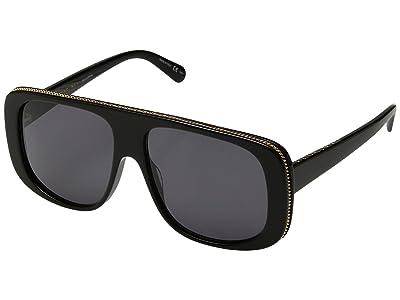 Stella McCartney SC0092S (Black/Grey) Fashion Sunglasses