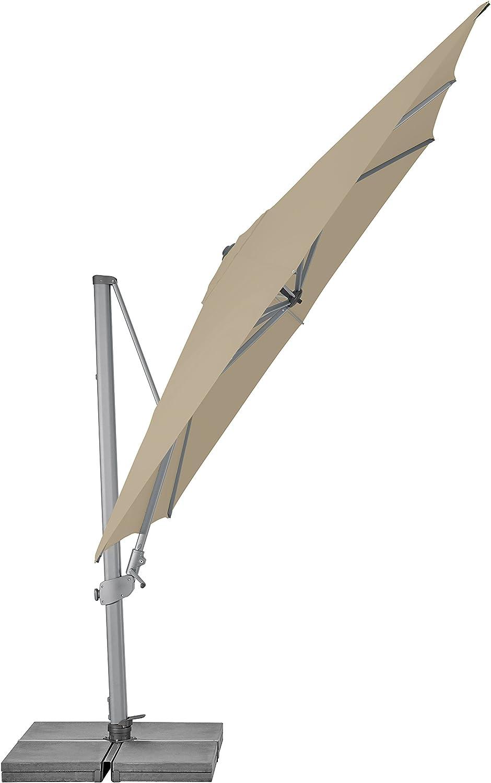 ecru 300x300 cm quadratisch 30 kg Bespannung Polyester Gestell Aluminium Suncomfort by Glatz Varioflex