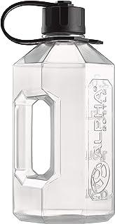 Alpha Designs Water Bottle, 2400 ml Capacity, Clear/Black, XXL222 grams