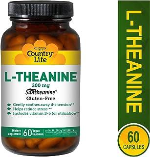 Country Life L-Theanine, 200 mg - 60 Vegan Capsules