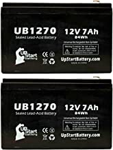 2 Pack Replacement for APC Back-UPS CS 350 BK350 Battery - Replacement UB1270 Universal Sealed Lead Acid Battery (12V, 7Ah, 7000mAh, F1 Terminal, AGM, SLA) - Includes 4 F1 to F2 Terminal Adapters