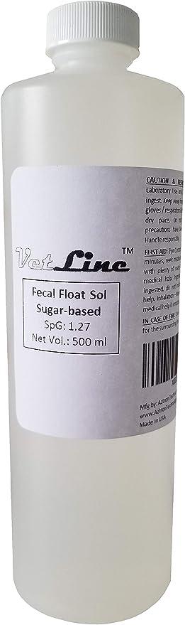 Fecal Flotation Collection Jar 50ct Parasite Fecal Floatation Solution Worm