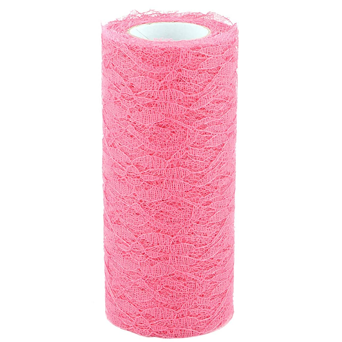 uxcell Lace Household Tutu Gift Decor DIY Tulle Spool Roll 6 Inch x 10 Yards Dark Pink