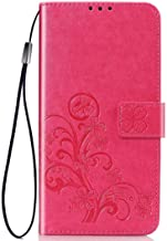 Wuzixi Case for Huawei Y3 2017/Y3 2018. Anti-Scratch, Flip Case Side suction Kickstand Feature Card Slots Case, PU Leather Folio Cover for Huawei Y3 2017/Y3 2018.Rose Red