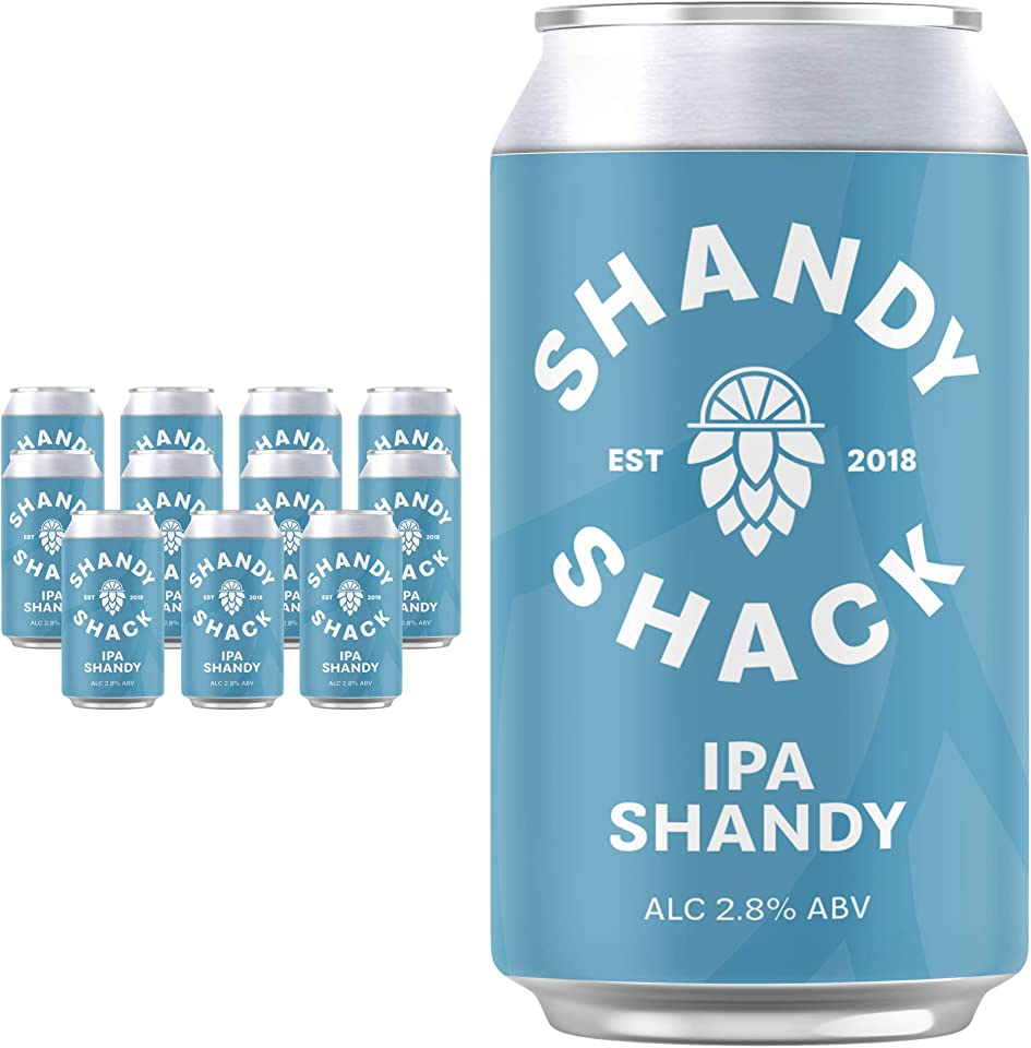 Shandy Shack | Craft Beer Shandy | Lower Alcohol, Vegan, Gluten-Free, Natural Ingredients • IPA Shandy (12 x 330ml Cans) - 2.8% ABV