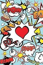 Superhero Cartoon Words Valentines Heart Journal: Comic Book Style Blank Lined Notebook for Valentines Day, Love, Husband, Wife, Spouse, Girlfriend, Boyfriend, Partner