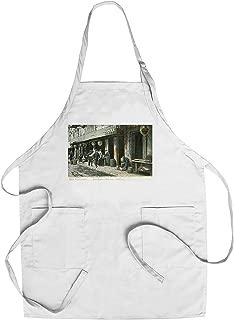 San Francisco, California - A Street Scene in Fish Alley (Cotton/Polyester Chef's Apron)
