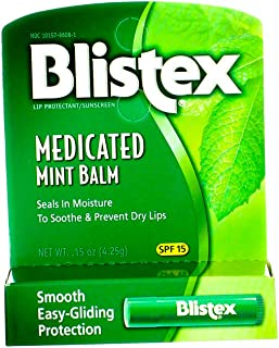 Blistex Medicated Mint Balm SPF 15 0.15 oz (Pack of 12)