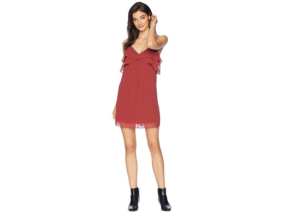 BCBGeneration Ruffle Cami Dress (Auburn) Women