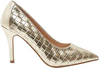 حذاء شو اكسبرس نسائي مزخرف بمقدمة مدببة سهلة الارتداء مع كعب مدبب