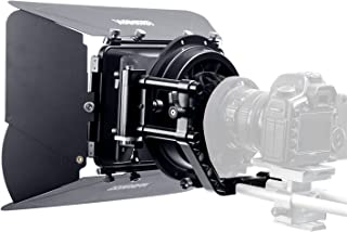 Sevenoak SK-MB4 Lightweight Matte Box with 4 French Flags & Universal Anti-Reflection Donut (for 15mm Rod System) for DSLR BlackMagic Pocket Cinema Panasonic GH4 Camcorders Micro Film Making System