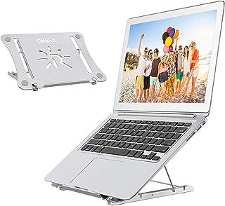 OMERIL Bärbar dator stativ, höjdjusterbart bärbar dator datorstativ, bärbart vikbart ventilerat aluminium laptopstativ kom...