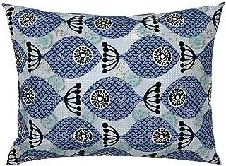 Funda de almohada Tr73ans Mod Fish & Sand Dollars de Ottomanbrim Midsigury moderna de satén de algodón funda de almohada de ropa de cama de regalo