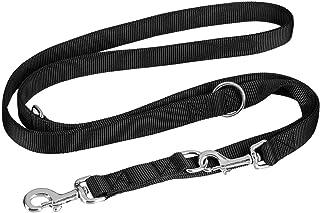 comprar comparacion vitazoo Correa de Perro en Negro Grafito, Resistente y Ajustable en 3 Longitudes (1,4 m - 2,1 m) | con 2 años de garantía ...