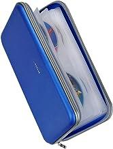Wismart 72 Capacity Heavy Duty CD CD Blu-ray Media Case Stuff Holder Holder Organizer کیف پول (آبی)