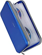 Wismart 72 Capacity Heavy Duty CD DVD Blu-ray Media Case Storage Holder Organizer Wallet (Blue)