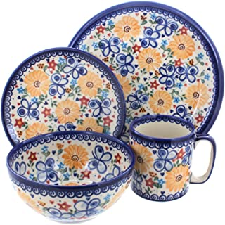 polish pottery dinner plates