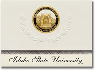 Signature Announcements Idaho State University Graduation Announcements, Platinum style, Basic Pack 20 with Idaho State U. Seal Foil