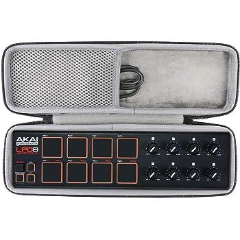 Afinador Almacenamiento Viajar que Lleva Caja Bolsa Fundas para AKAI Professional LPD8 Portable 8 Pad USB MIDI Drum Pad Controlador de co2CREA: Amazon.es: Instrumentos musicales