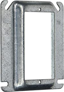 Hubbell-Raco 782 Raised 1/2-Inch Single Device Square Mud-Ring for Tile, 4-Inch