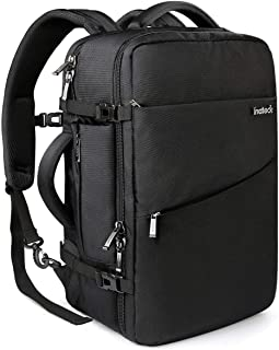 Inateck 40L Travel Backpack, Flight Approved Carry on Backpack Hand Luggage, Anti-Theft Laptop Rucksack Large Daypack Weekender Bag for 17'' Laptop - Black
