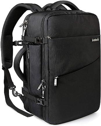 Inateck 40L Zaino bagaglio a mano/da cabina. Compatibile con laptop 15-17'', Zaino valigia omologato per volo, Zaino antifurto viaggio, nero