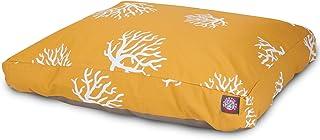 سرير Pet Coral ماجستيك مستطيل للحيوانات الأليفة, Large, Yellow