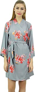 Bimba Women's Floral Printed Georgette Bridesmaid Robe Coverup Wrap-8