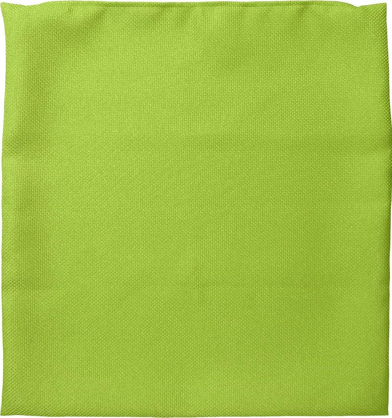 座布団カバー 約55×59cm 銘仙判 ファイン グリーン 日本製