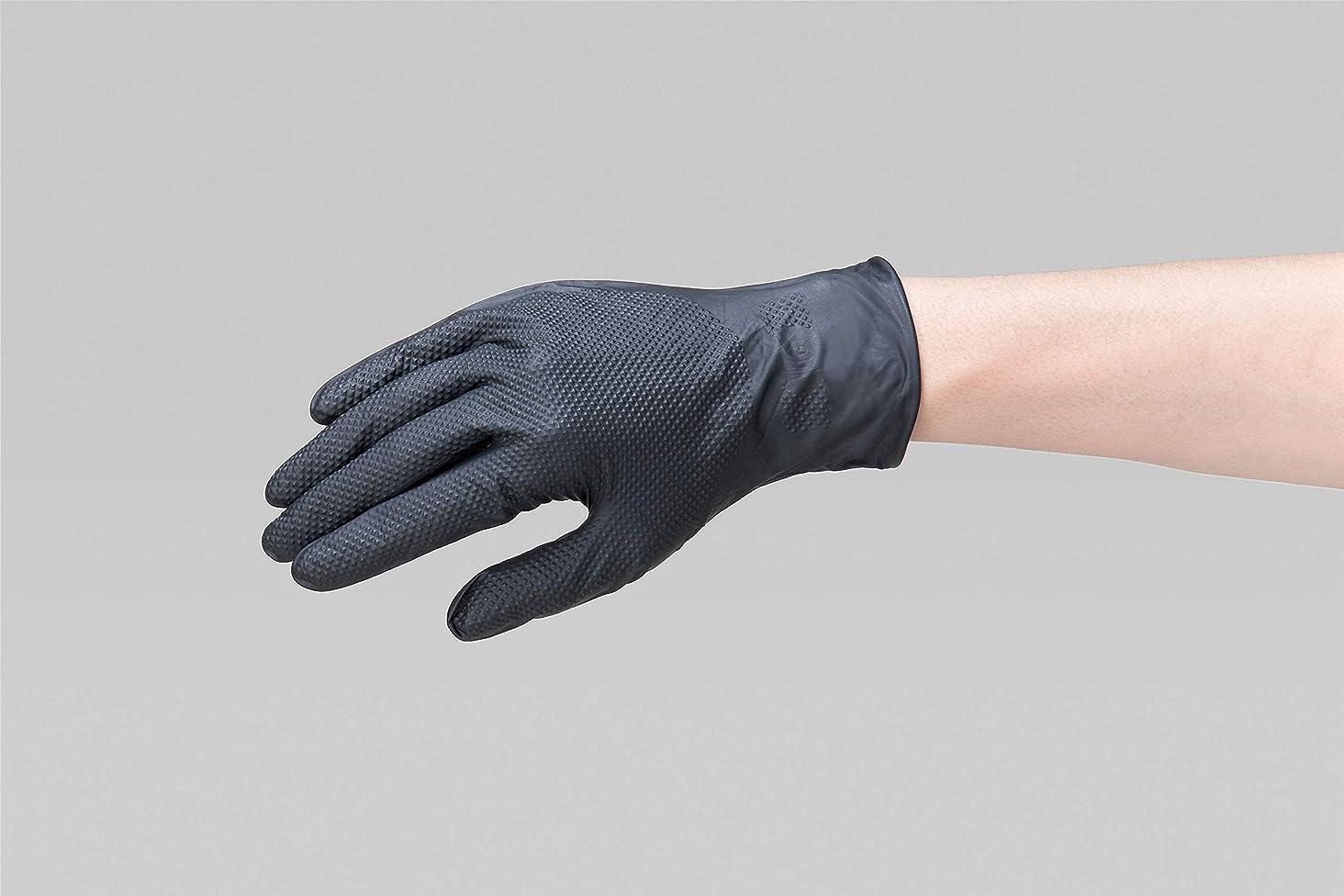 プランターフィットネス運賃リーブル ニトリルグローブ 手袋 IGAブラック Mサイズ 50枚入 No.2190-M