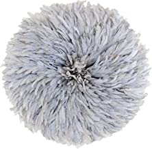Zeal Living Authentic African Juju Hat - Stonewashed Grey, Large (29 inch Diameter)